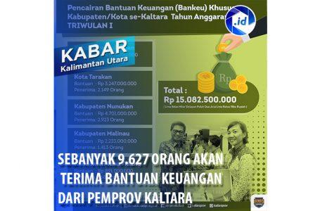Sebanyak 9.627 Orang Akan Terima Bantuan Keuangan Dari Pemprov Kaltara
