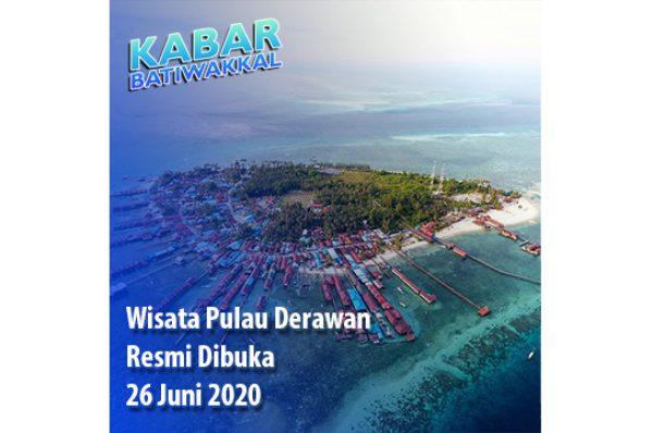 Wisata Pulau Derawan Resmi Dibuka 26 Juni 2020