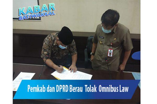 Pemkab dan DPRD Berau Tolak Omnibus Law