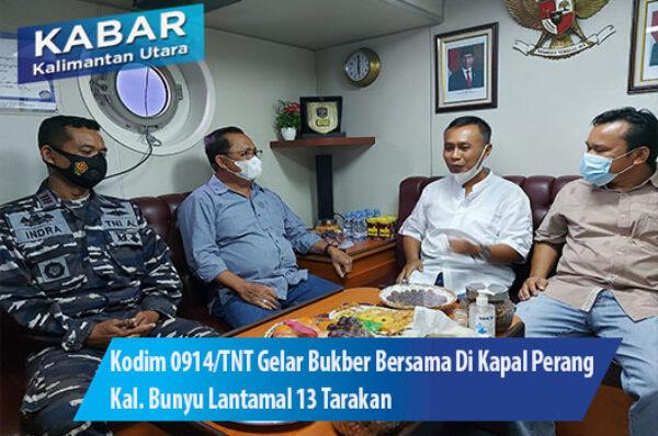 Kodim 0914/TNT Gelar Bukber Bersama Di Kapal Perang Kal. Bunyu Lantamal 13 Tarakan