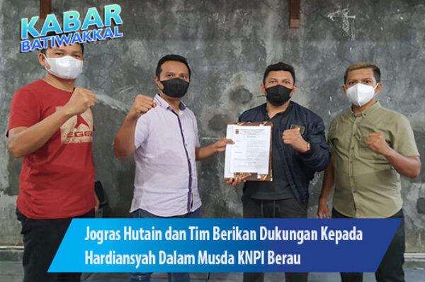 Jogras Hutain dan Tim Berikan Dukungan Kepada Hardiansyah Dalam Musda KNPI Berau