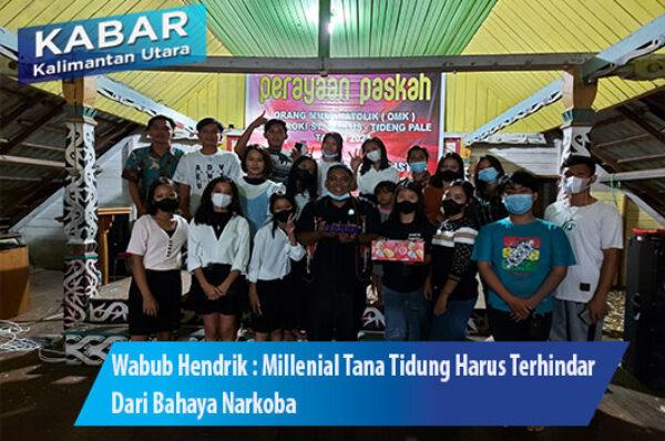Wabub Hendrik : Millenial Tana Tidung Harus Terhindar Dari Bahaya Narkoba
