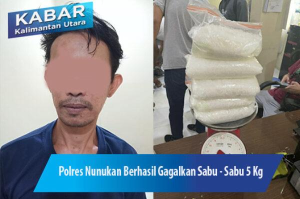 Polres Nunukan Gagalkan Penyelundupan 5 Kg Sabu – Sabu Ke Sulsel